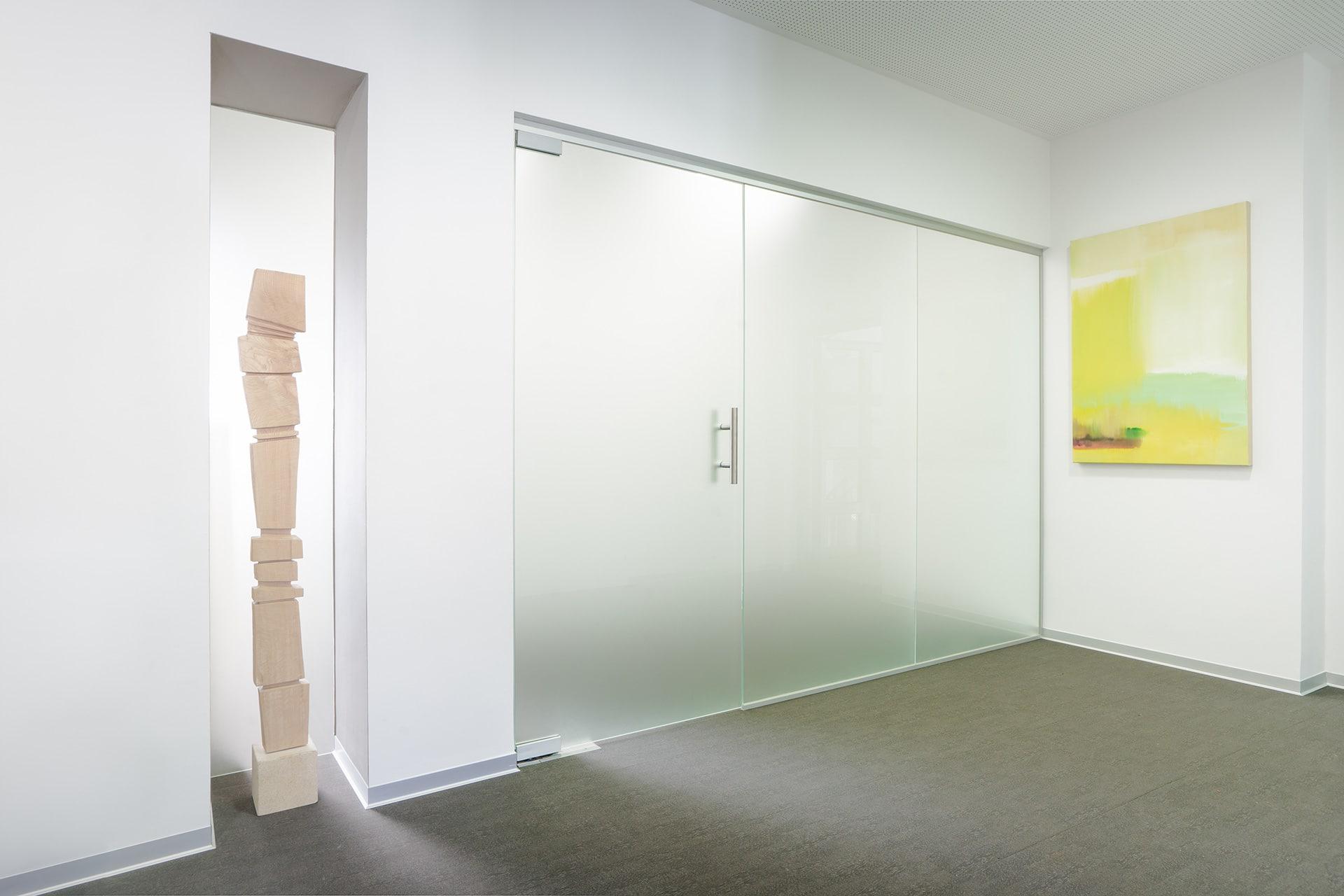 Raiffeisenbank - Türen und Trennwand aus Glas