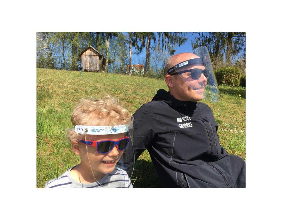 Corona Hygiene Maske Gesichtsschutzmaske Gesichtsschutzschirm Gesichtsschutzvisier Familie