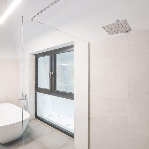 Kricker Glas Walk In Dusche Glastrennwand Pivottür